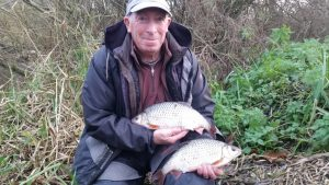 Roy Jones displays his fantastic brace of Avon roach.
