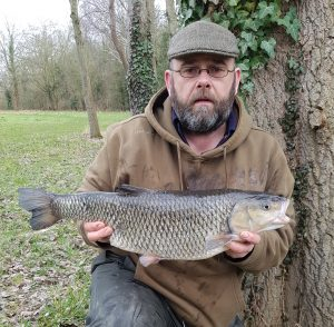 Michael Horwood shows his massive chub from the Thames.