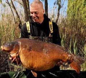 Bernard Sisson admires his Grenville Lake giant.