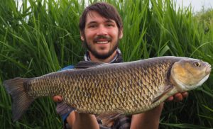 Robbie Northman thought carefully about what he used to tempt this huge River Wensum chub.