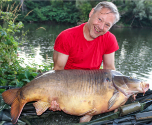 Tim Knight has discovered his huge River Lot carp was caught by another angler last autumn at over 74 lb.