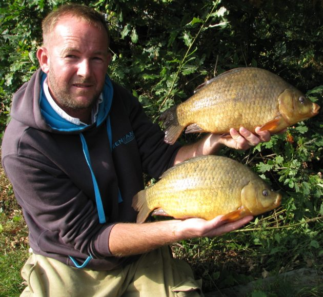Big crucians are reward for angler's extra long return trip