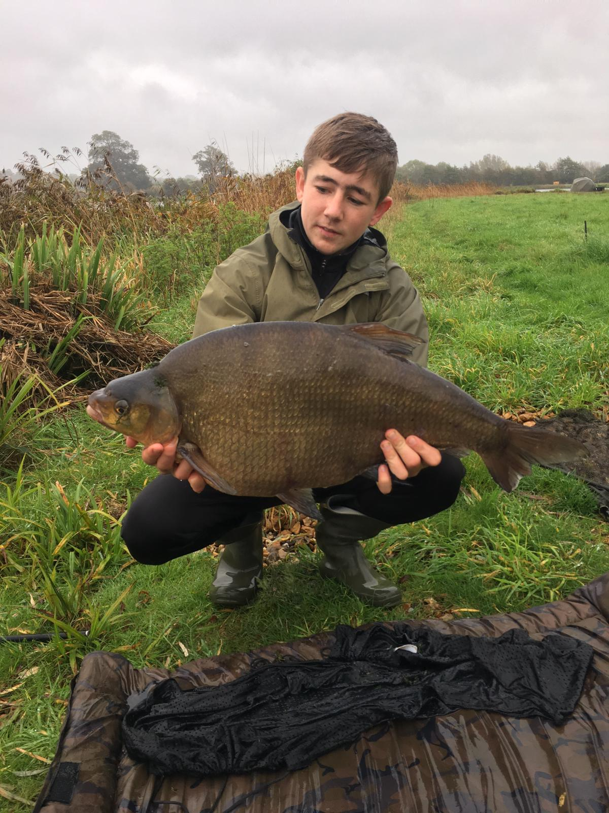Billy admires his 16 lb bream before - not knowing he was about to catch the biggest bream of 2019!
