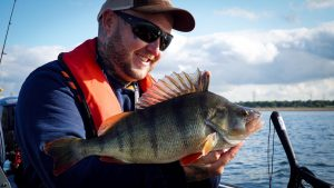 This one went 4 lb 4 oz... Charlie has been amongst a run of big perch at Hanningfield Reservoir.