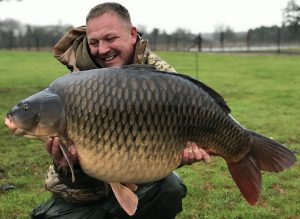 The Avenue fishing lake has some stunners, including this 56 lb 4 oz common carp during an eventful trip for Craig McEvoy.