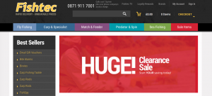 Near to closing - Fishtec is big in online sales, mail order brochures, and a well stocked shop.