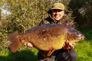 Steve Cliff was amongst big Elstow carp as it had to close for lockdown.