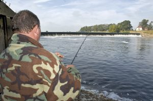 Cromwell Weir is famous for probably the best barbel fishing in the country.