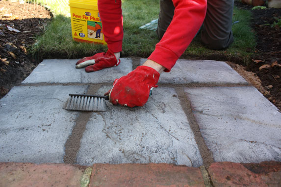 Amazing Step6) To Reduce Mess And Workload, Use A Dry Mix Such As Pave Fix Plus To Fill  Gaps. Use A Brush To Push The Mix Into The Joints. Sweep Slabs To Prevent  ...