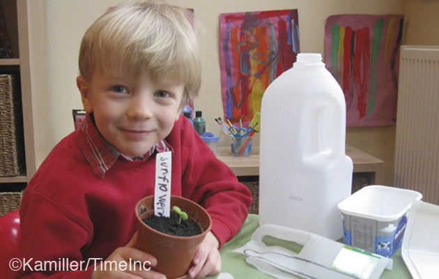 How to make plant labels and cloches - an upcycling project for children