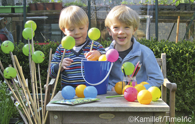 What to do with all those play balls? - Make cane toppers, a great project for children