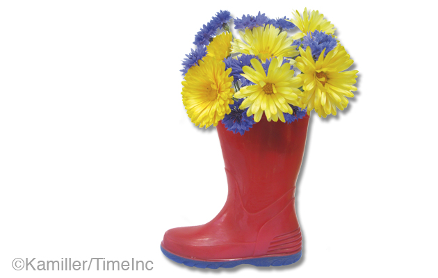 How to make a welly boot vase - great projects for children
