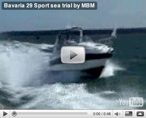 Bavaria 29 Sport boat test video