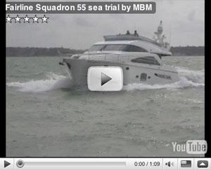 Fairline Squadron 55 boat test video