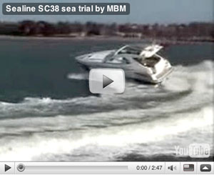 Sealine C38 boat test video