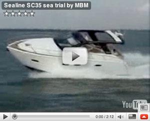 Sealine C35 boat test video