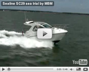Sealine S29 boat test video