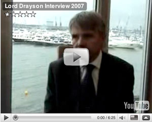 Lord Drayson video interview