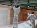 Spray layup