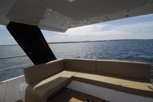 And great transom seating to boot. See the boat at the PSP Southampton Boat Show, or in MBY October!
