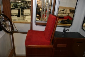 Helm seat and galley. All in, the price is around £125,000 for a ready-to-go boat