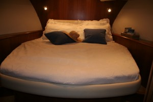 Not forgetting the master cabin - and there's a twin for guests too. All in all a really great boat