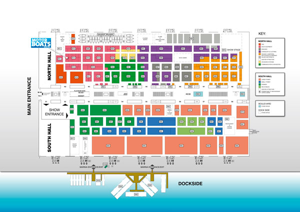 Show Map Of London.London Boat Show Map And Showguide Motor Boat Yachting