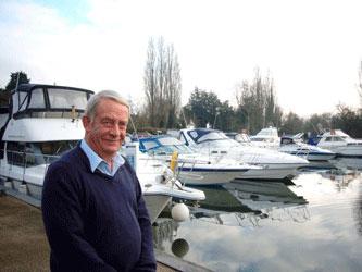 Giles Ball at Shepperton Boat Showrooms