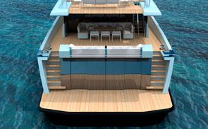 Wallyship stern