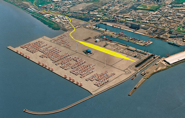 Avonmouth container port