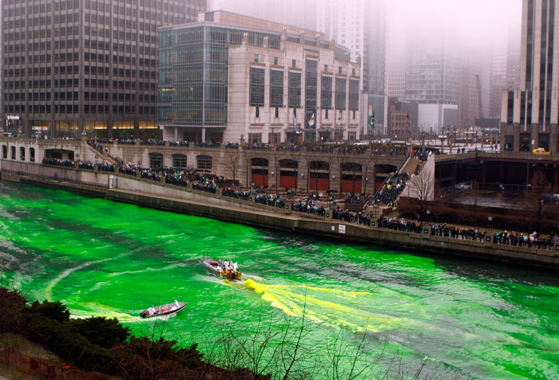 St Patrick's Day in Chicago