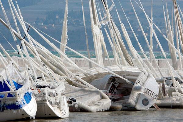 Boats at Grandson on Lake Neuchatel