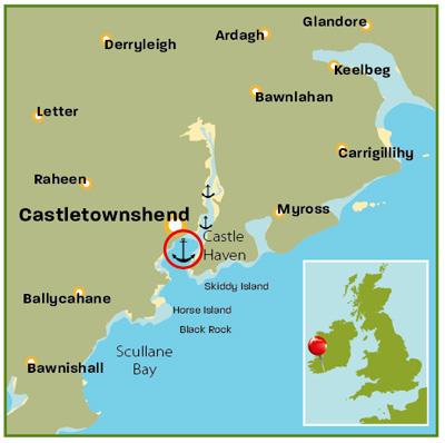 Castle Haven map | Ireland | Top 25 Anchorages | Cruising guides | Motor Boats Monthly |