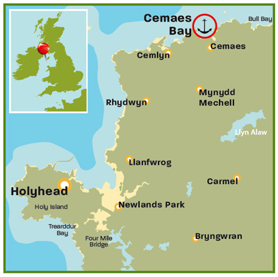 Cemaes Bay Anglesey map | West coast and Wales | Top 25 Anchorages | Cruising guides | Motor Boats Monthly |
