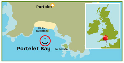 Portelet Bay map  | Channel Islands | Top 25 Anchorages | Cruising guides | Motor Boats Monthly |