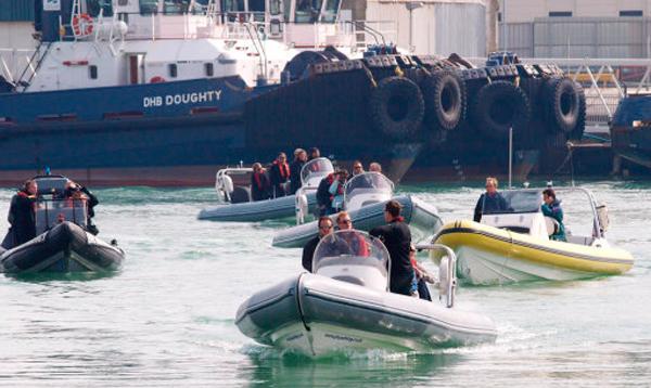 RIB rescue Calais