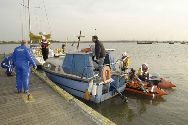 Stranded boater