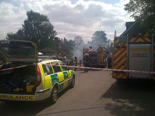 Fire services battle the flames