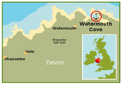 Watermouth Cove map | Devon | Top 25 Anchorages | Cruising guides | Motor Boats Monthly |