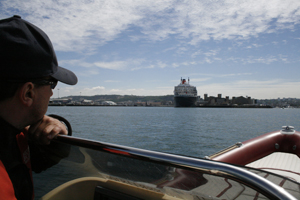 Day 4 Queen Mary docked at Cherbourg