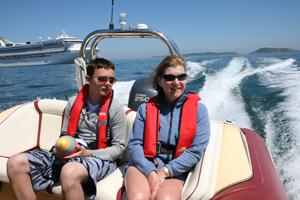 Day 8 Time Flies RIB rides to Herm Island