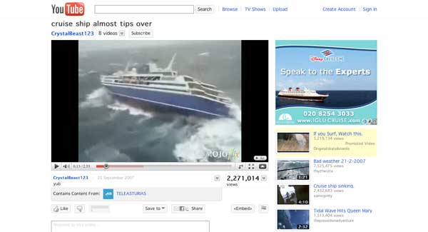 The web's greatest boating videos: cruise ships