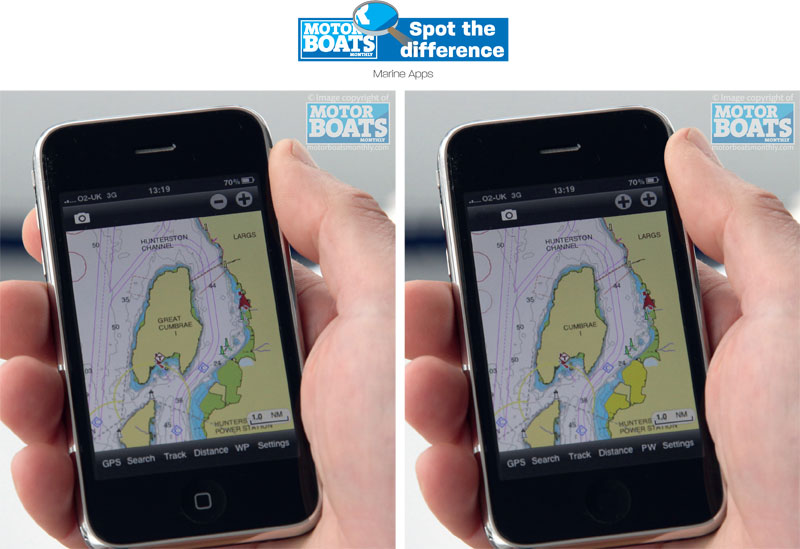 Marine iphone apps | Spot the difference | Motor Boats Monthly |