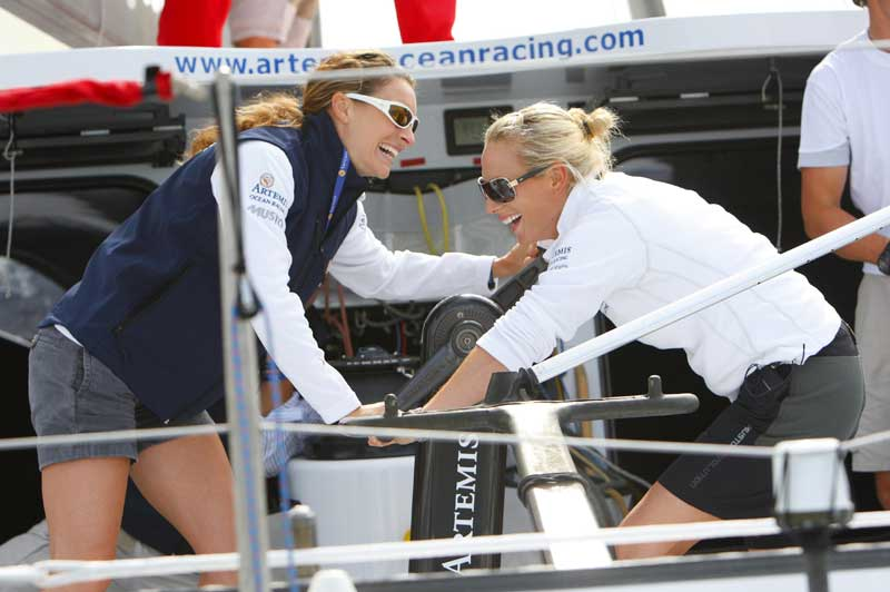 Amy Williams and Zara Phillips at Cowes | Motor Boats Monthly |