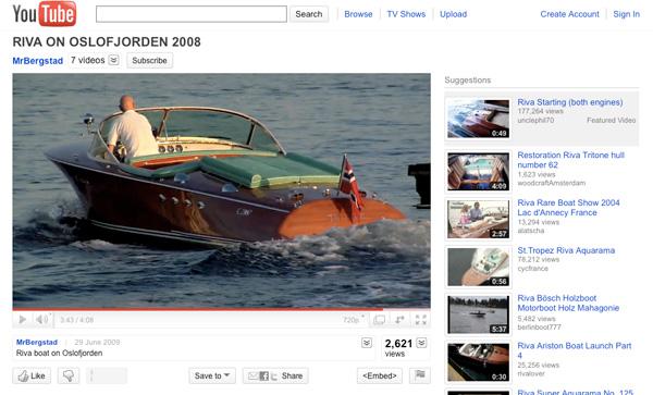 Best Boating Videos   Riva motor boats