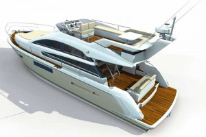 Fairline Squadron 41 at the Southampton Boat Show