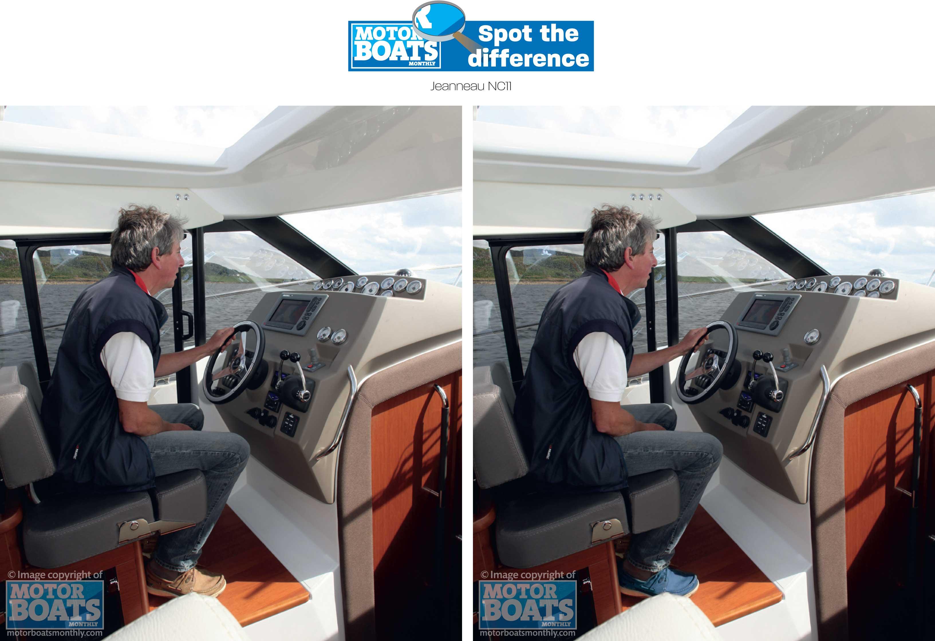 STD Jeanneau NC11 cockpit
