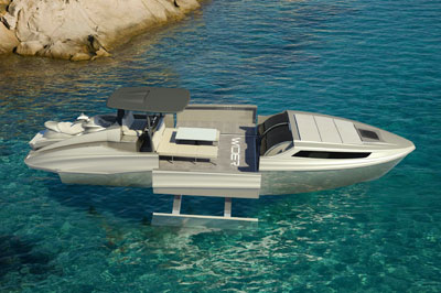 Wider 42 day-boat cruiser with extended cockpit