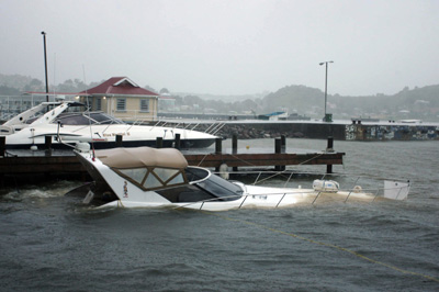 Hurricane Earl sinks motorboat