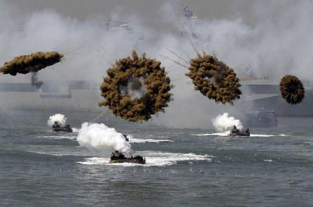 US and South Korea Marine landing crafts